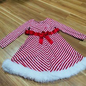 Bonnie Jean striped candy cane🎄 Christmas dress